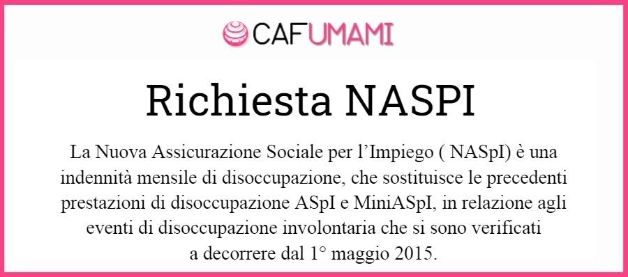 Richiesta NASPI (indennità di disoccupazione)